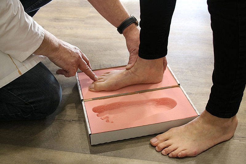 Fußabdruck nehmen