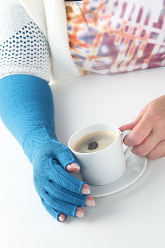 Kompressionsbandage schützt Hand und Unterarm